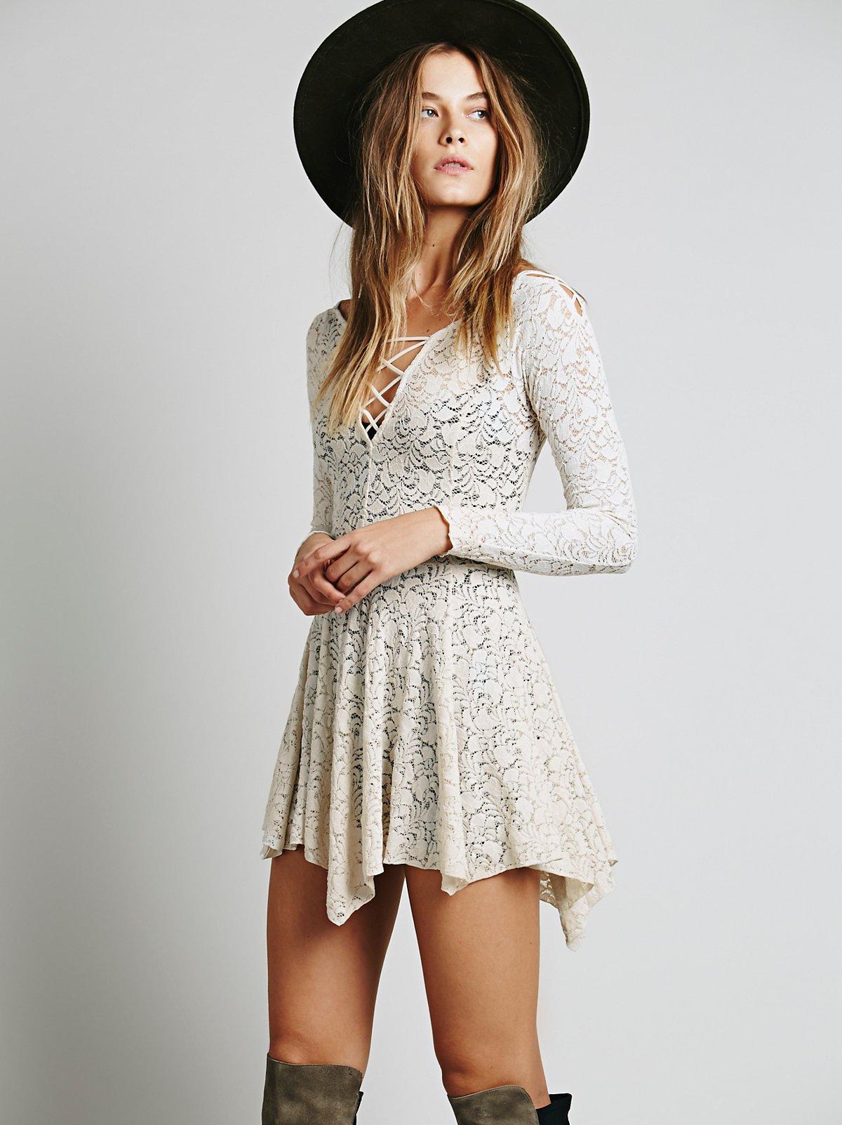 Juliet Lattice修身喇叭衬裙