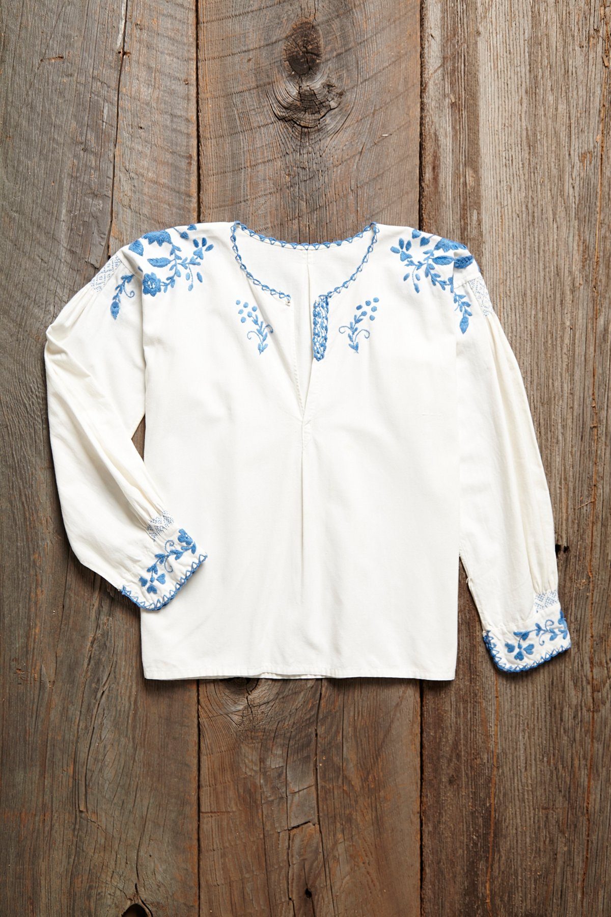 Vintage Hand Embroidered Top