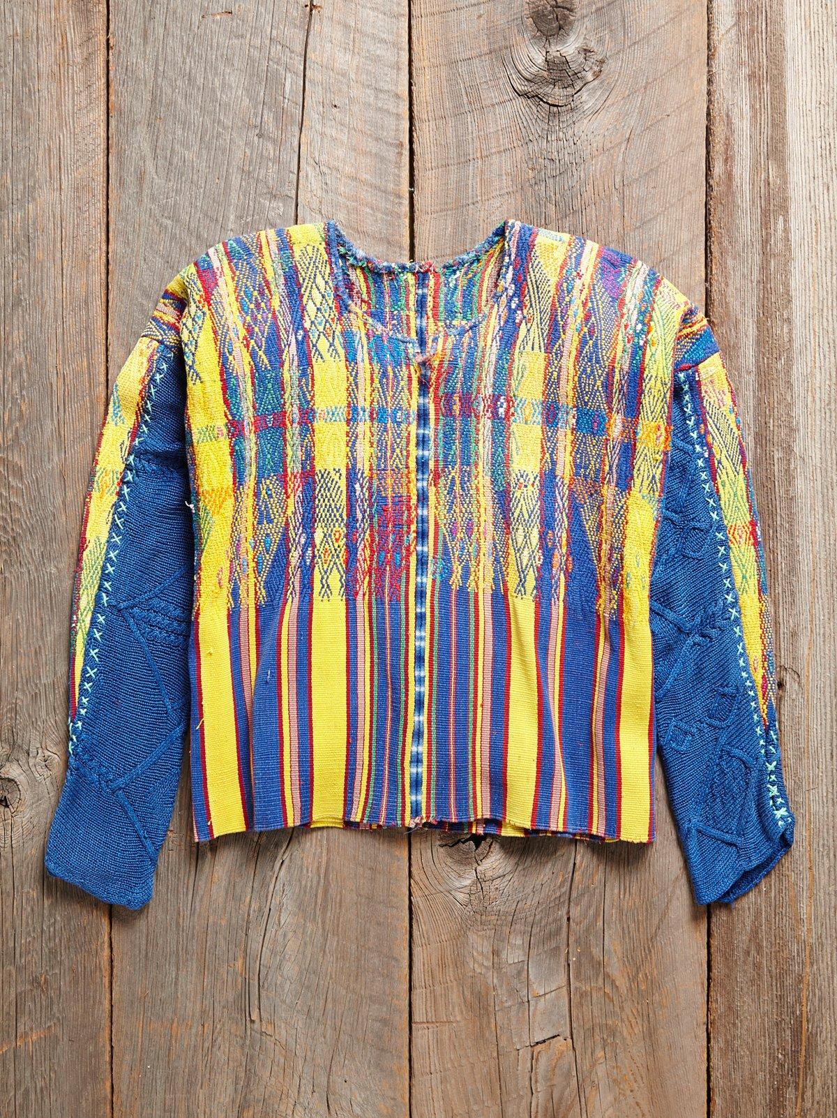 Vintage Guatemalan Woven Sweater