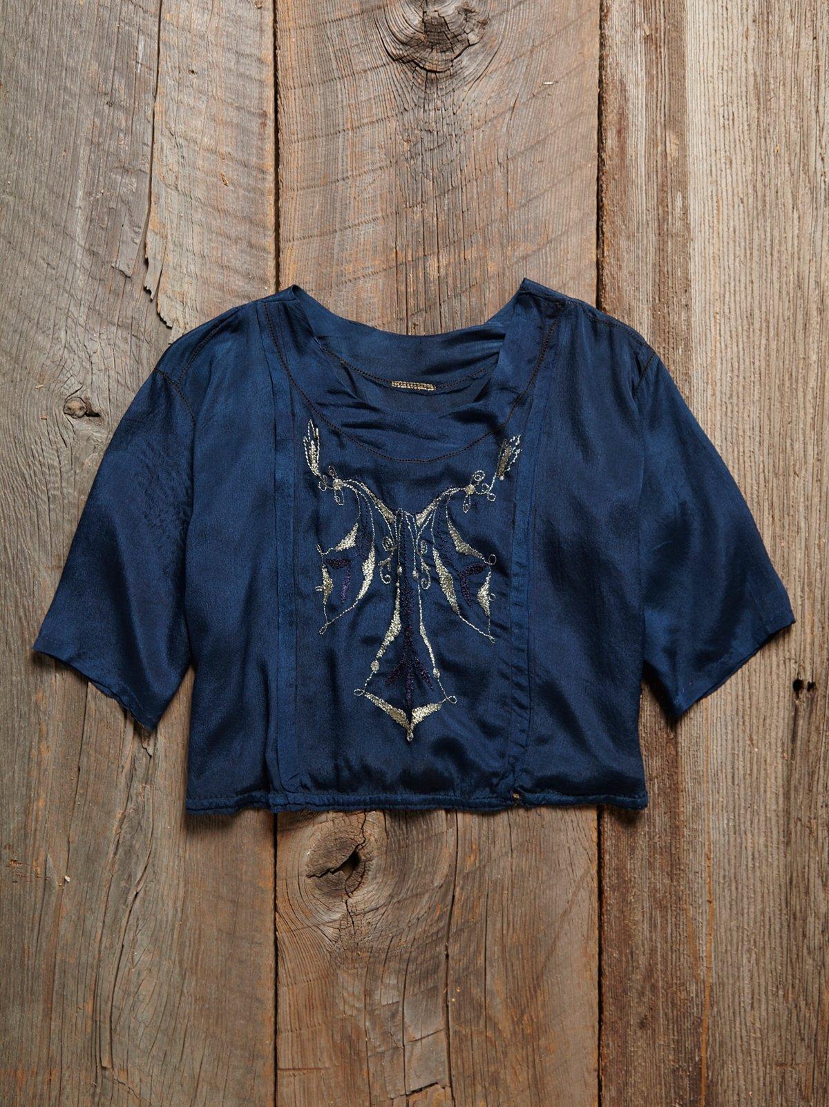 Vintage Victorian Silk Blouse