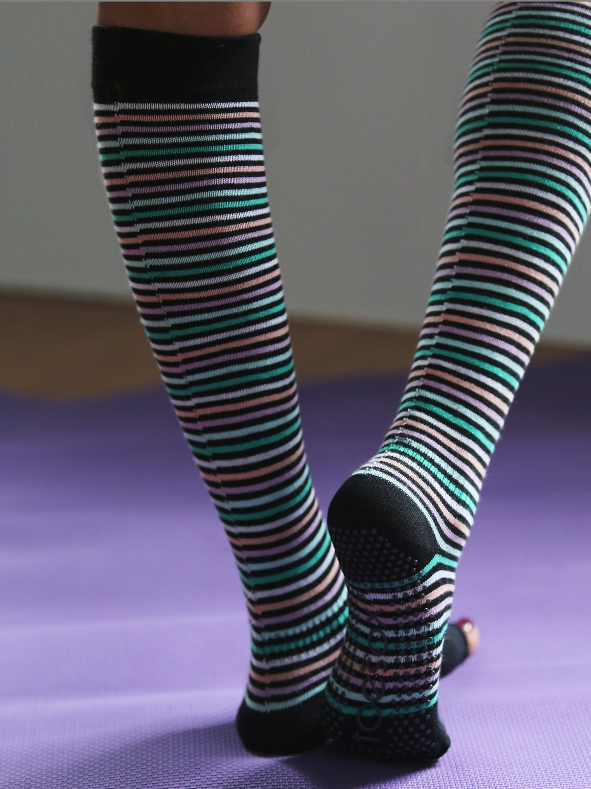 On the Line Yoga Sock
