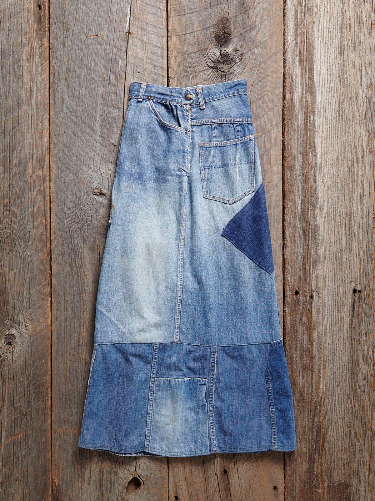 Vintage 1970s Ranch Craft Denim Skirt