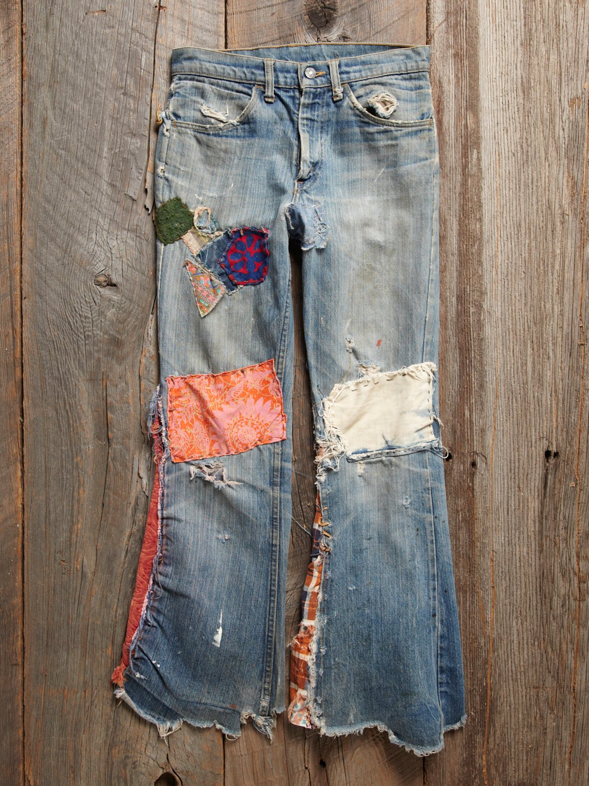 Vintage 1970s Patched Jeans