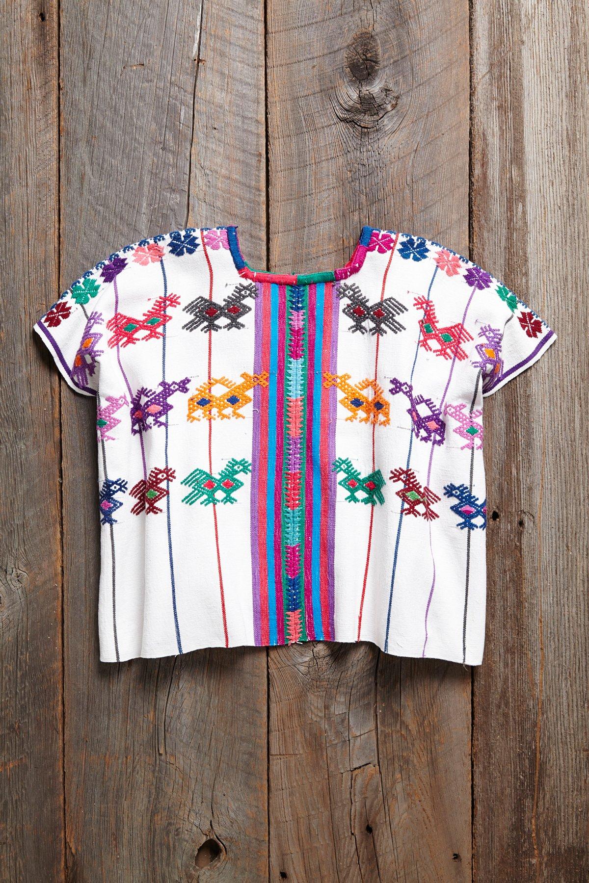 Vintage Guatemalan Huipil Top
