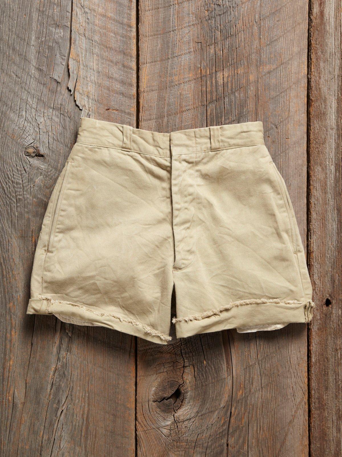 Vintage 1960s Khaki Shorts