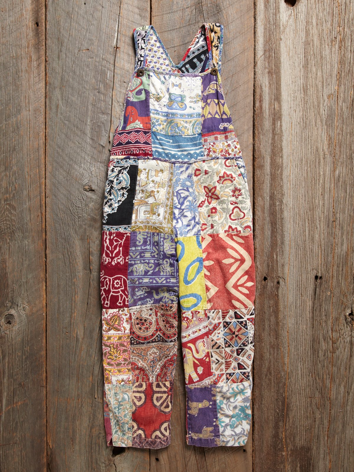 Vintage Batik Patches Overall