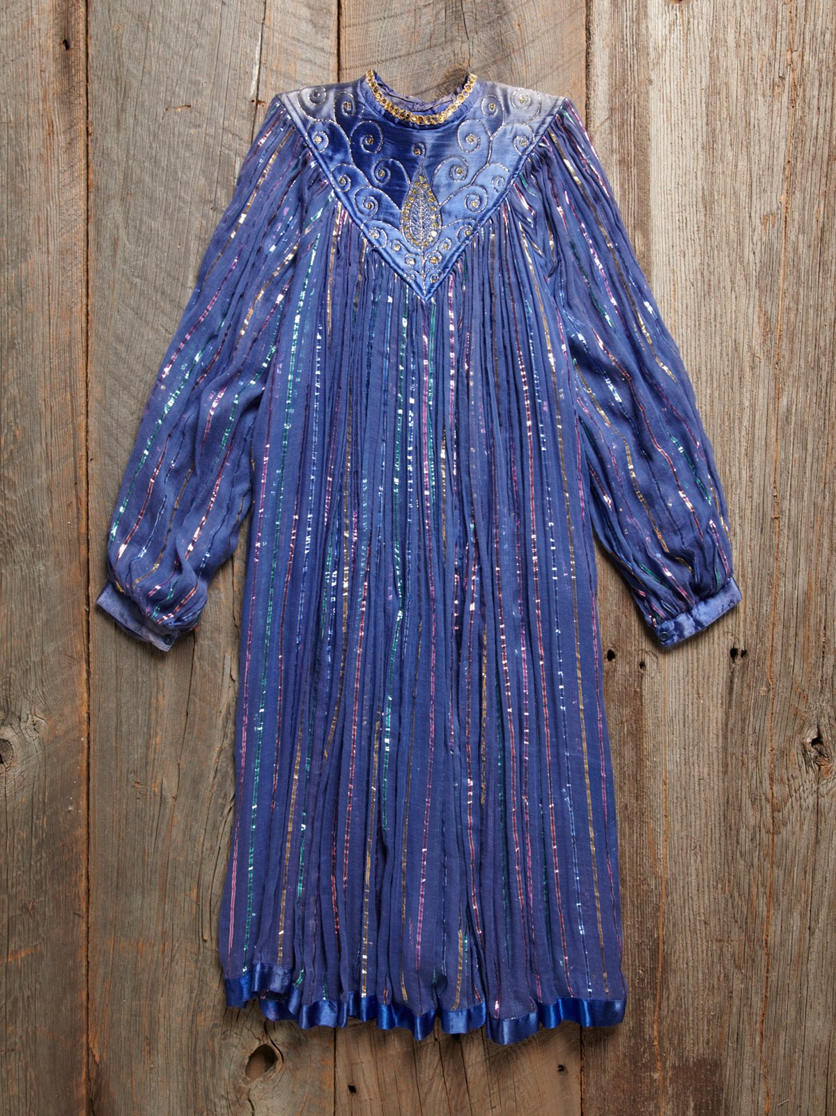 Vintage Striped Gauze Dress