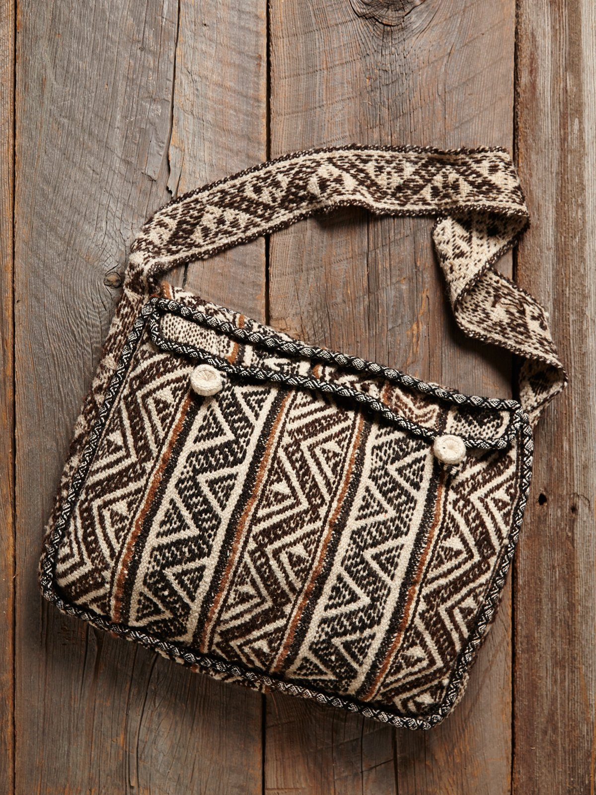 Vintage Woven Embroidered Bag