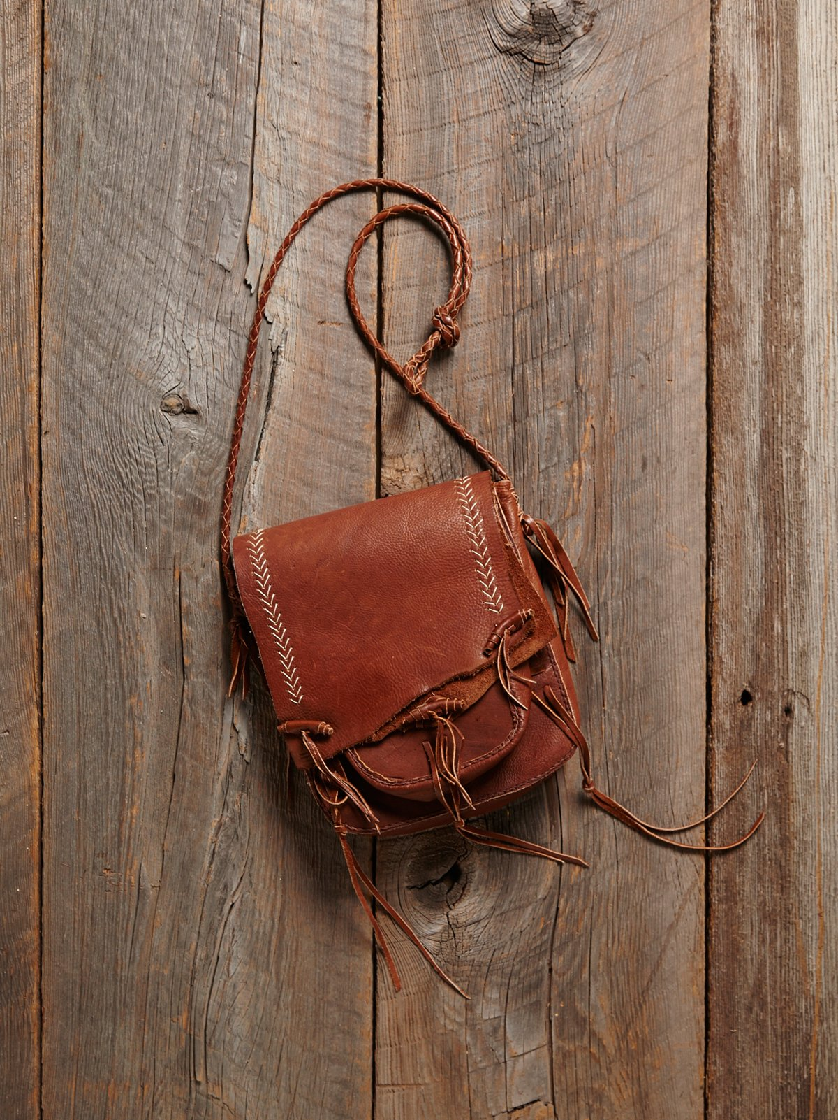 Vintage Hand Sewn Leather Bag