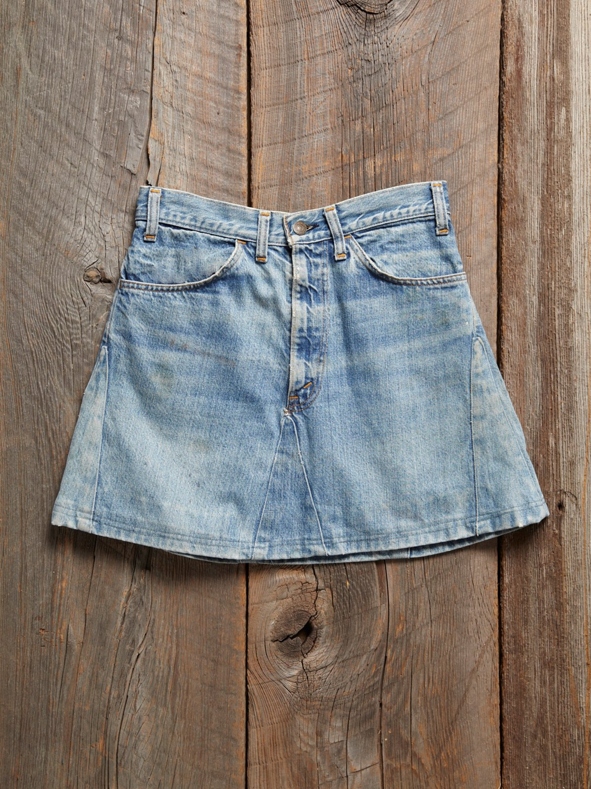 Vintage 1970s Levis Denim Mini Skirt