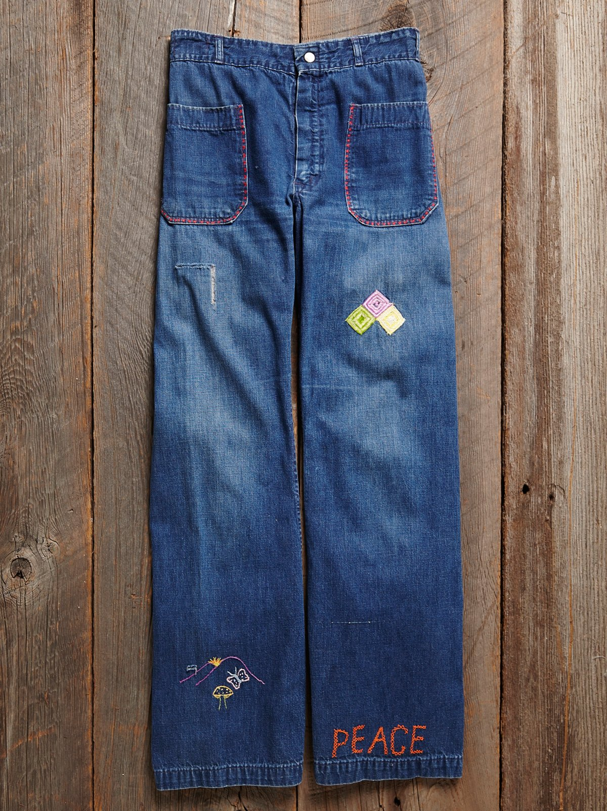 Vintage 1970s Patchwork Jeans