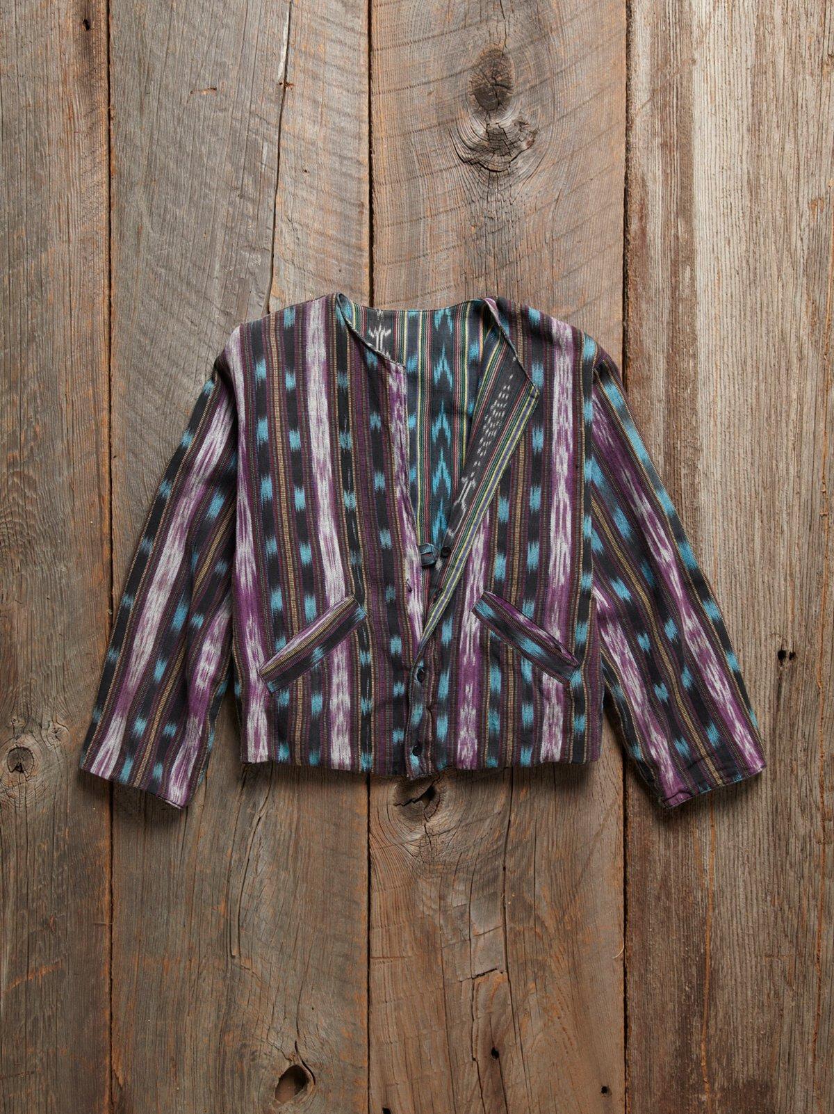 Vintage 1970s Ikat Print Jacket