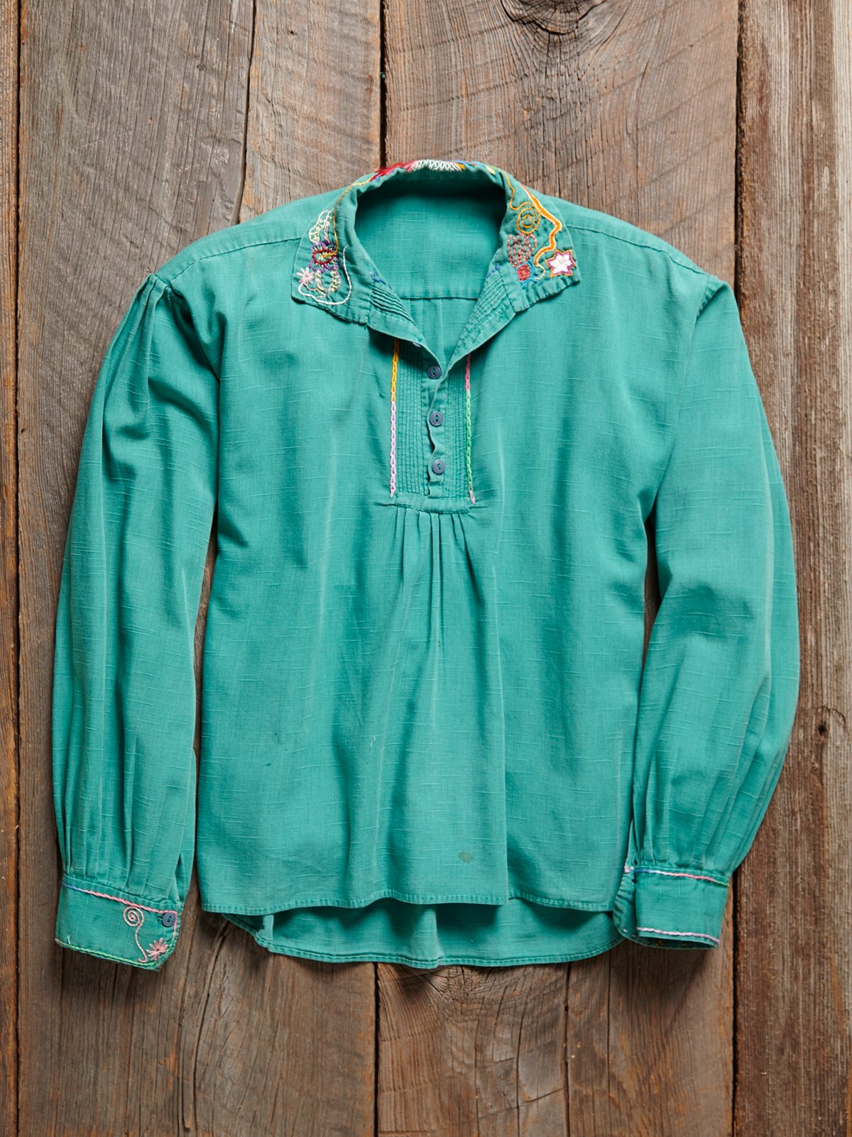 Vintage 1930s Turquoise Shirt