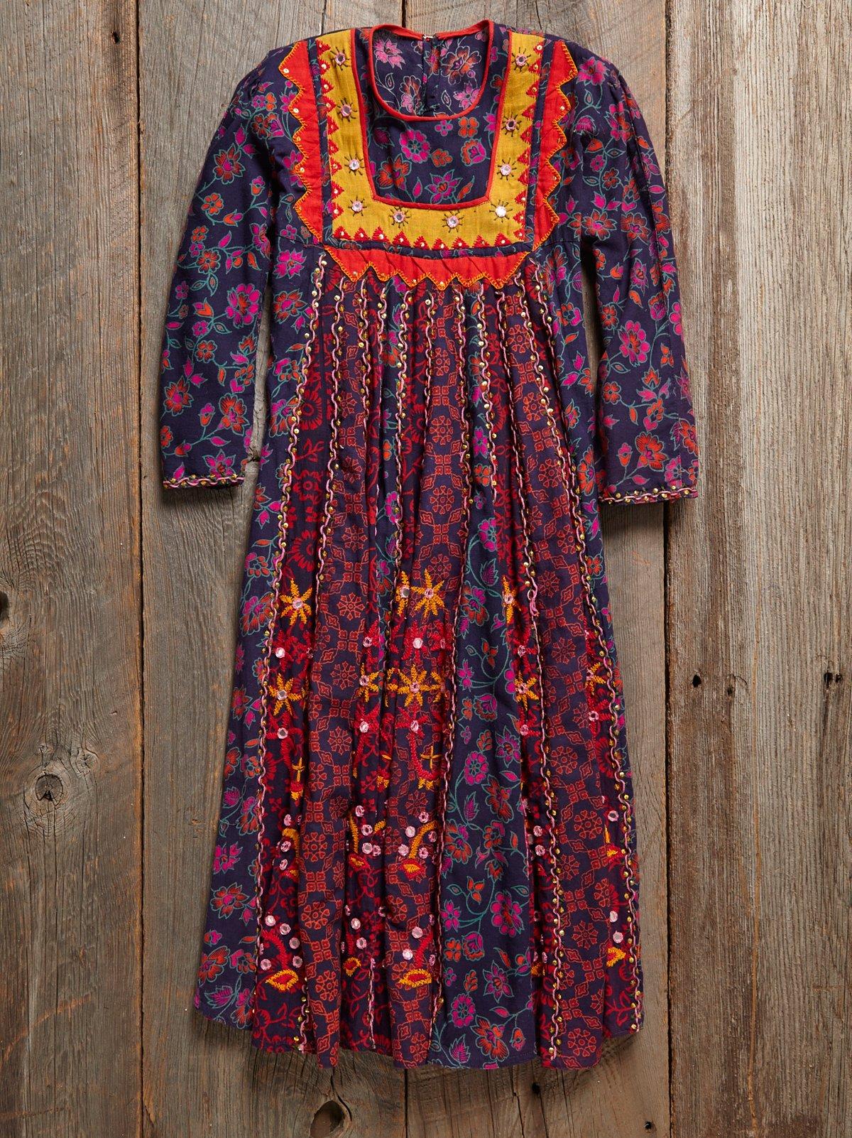 Vintage 1980s Printed Dress