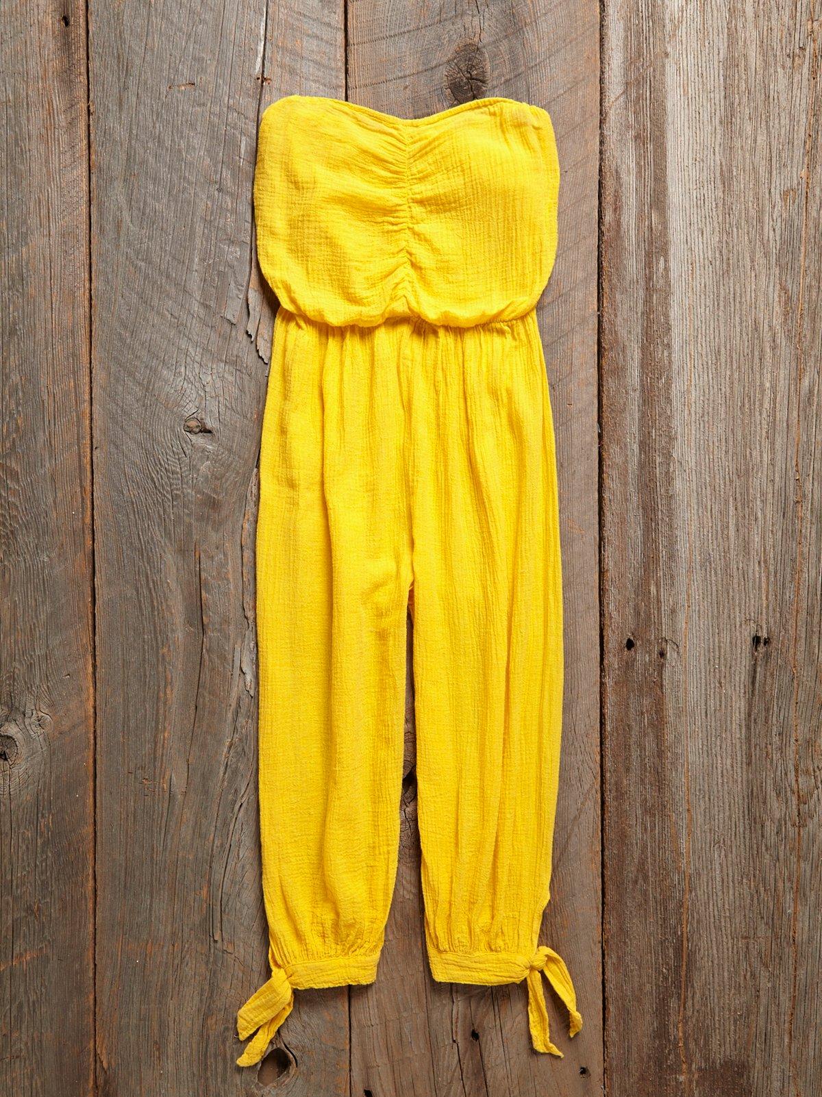 Vintage 1980s Yellow Jumpsuit