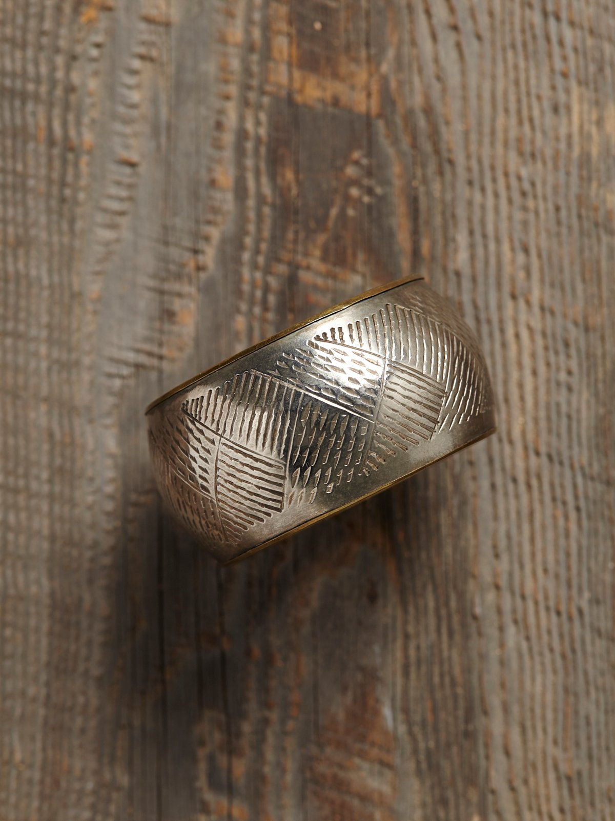 Vintage Etched Metal Bangle