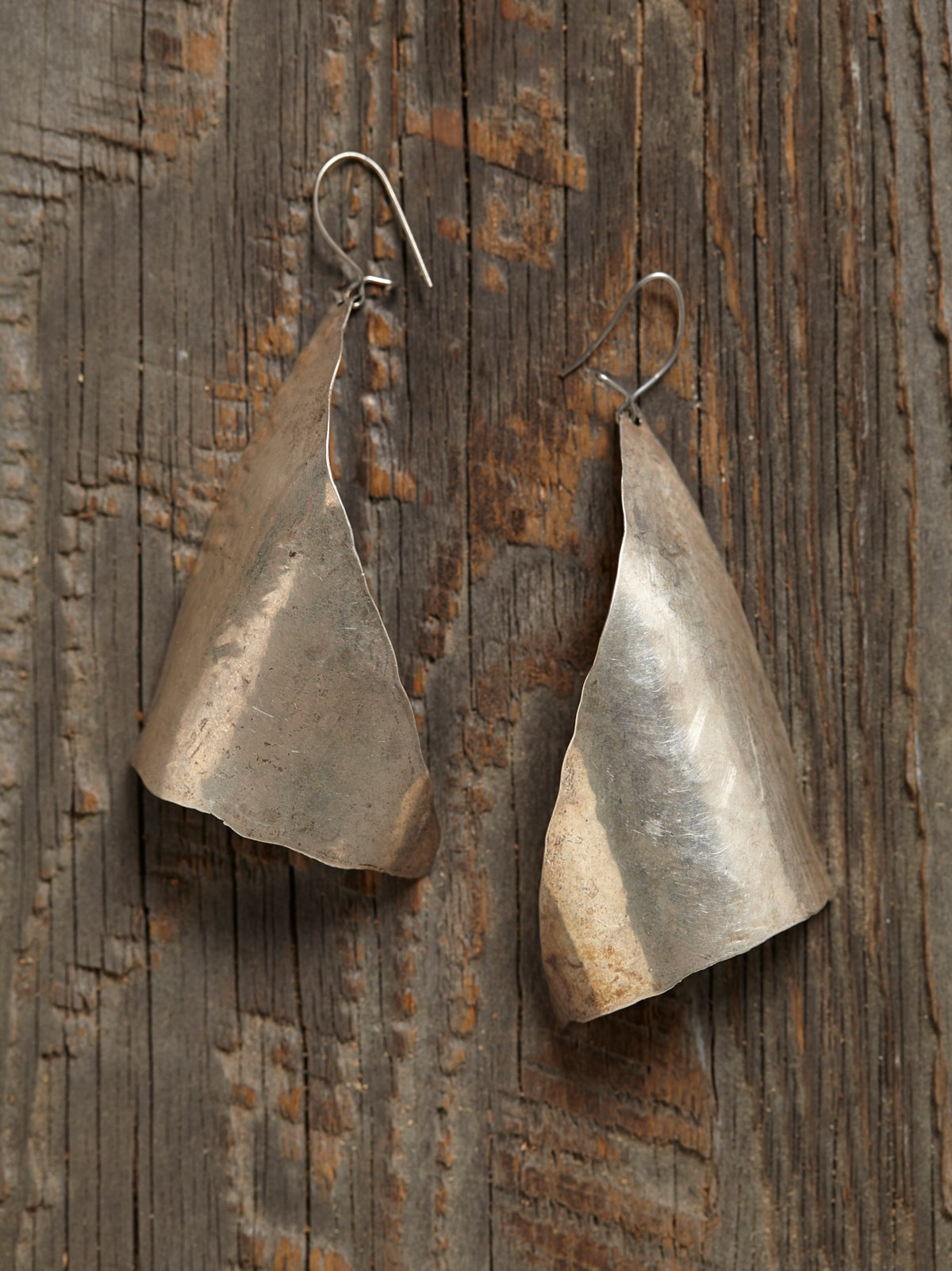 Vintage 1970s Silver Triangle Earrings