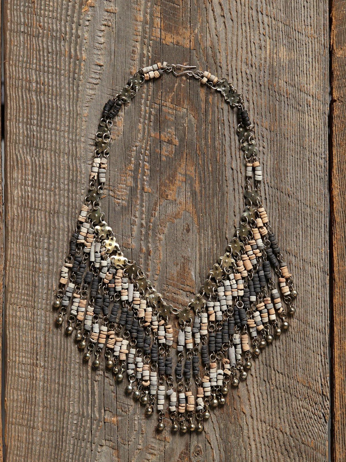 Vintage Fringe Bead Necklace