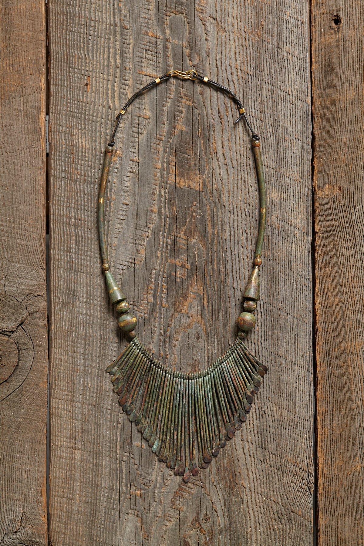 Vintage Brass Dangle Necklace