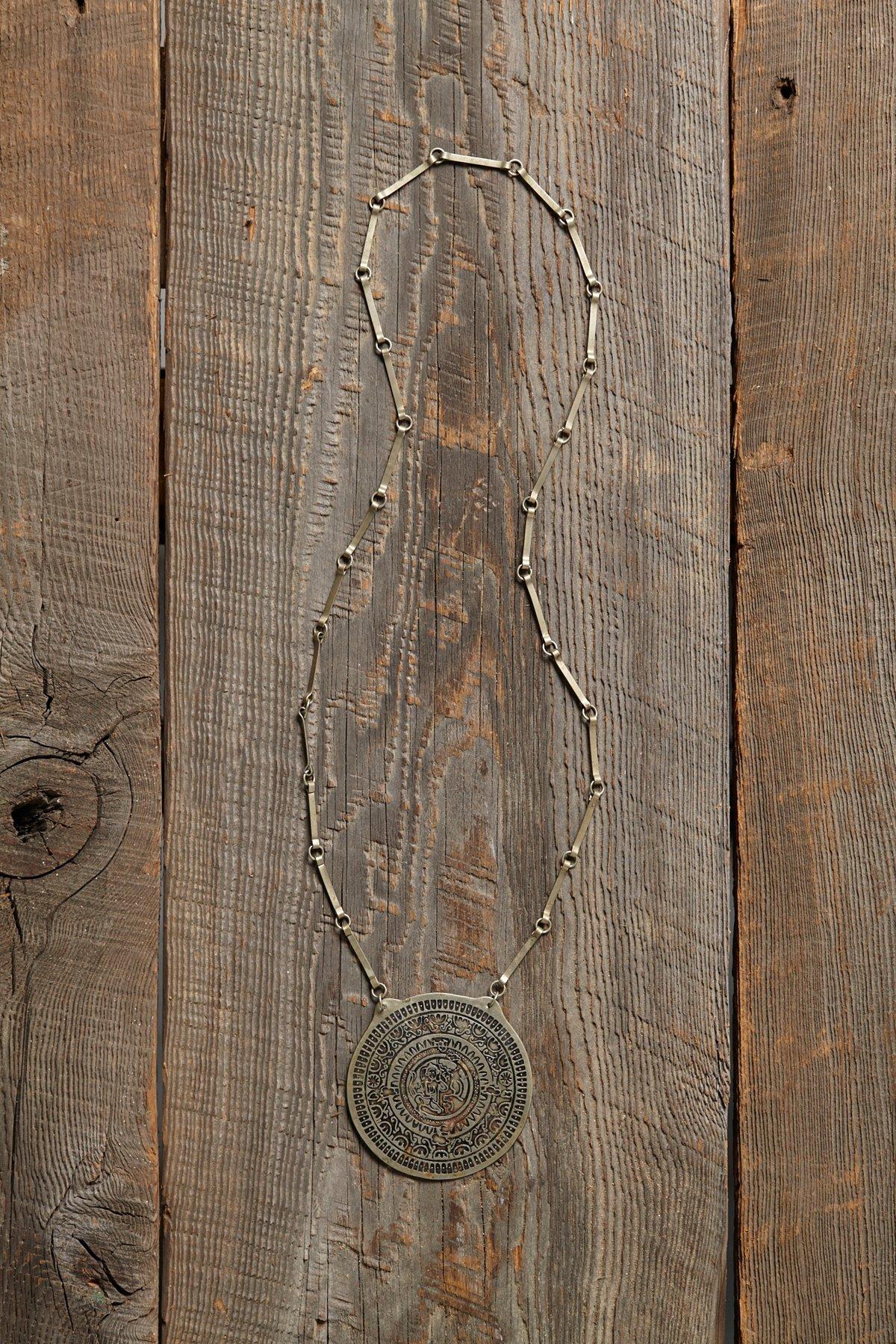 Vintage 1970s Stamped Necklace