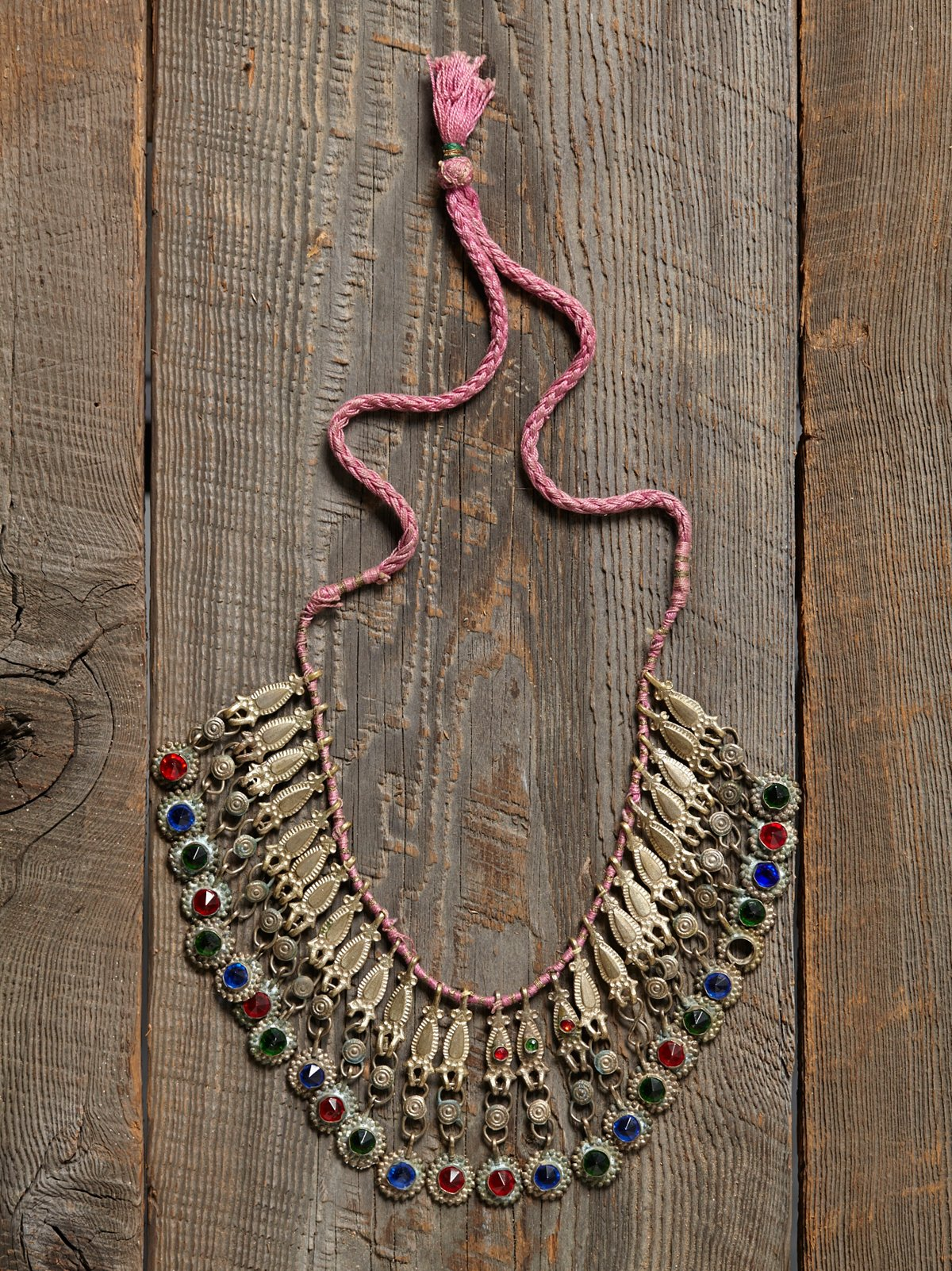 Vintage Glass Bead Drop Necklace
