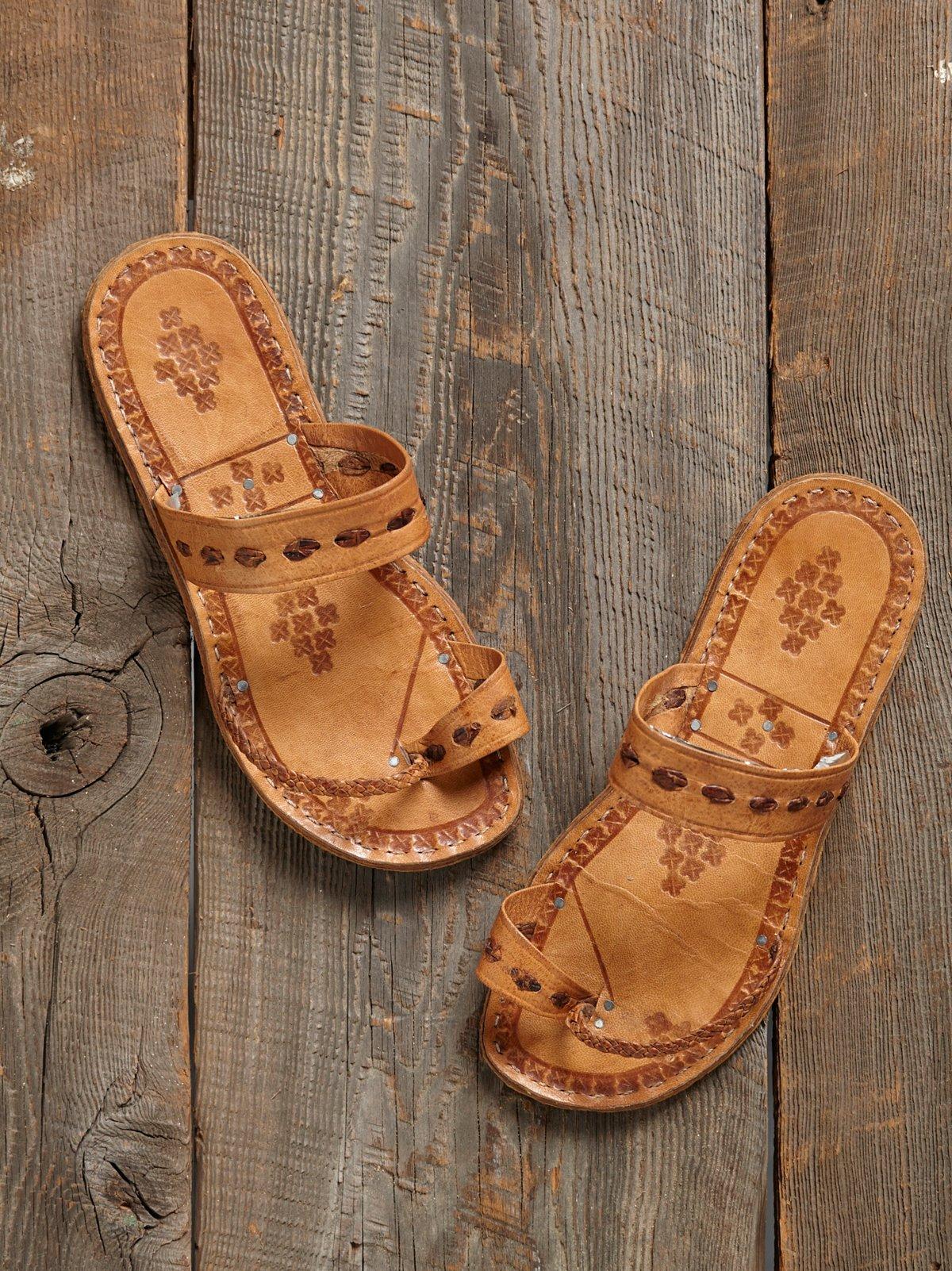 Vintage Stamped Sandals