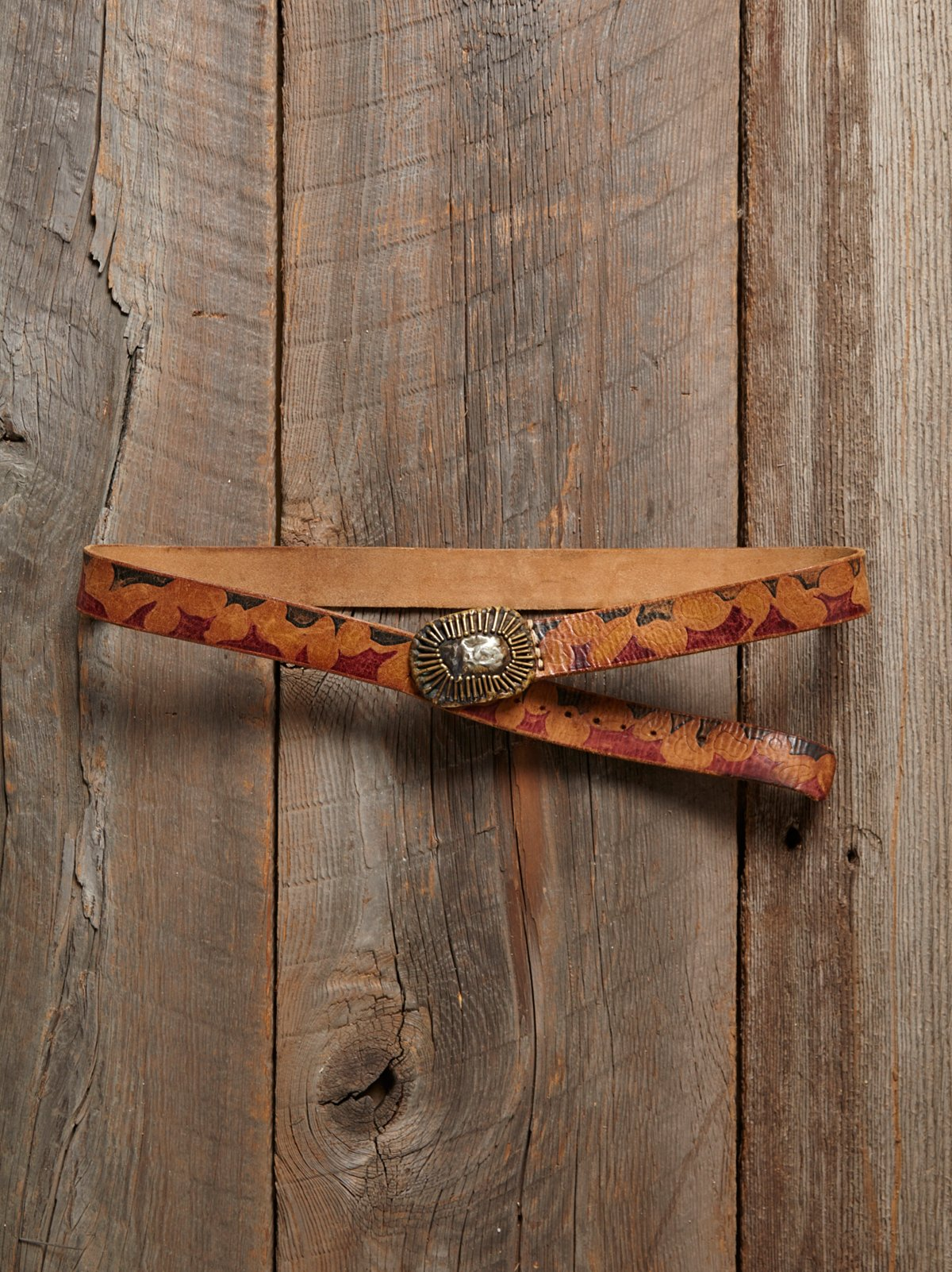 Vintage Painted Leather Belt