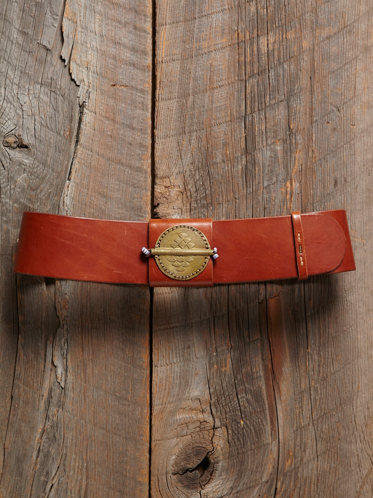 Vintage Wide Leather Belt