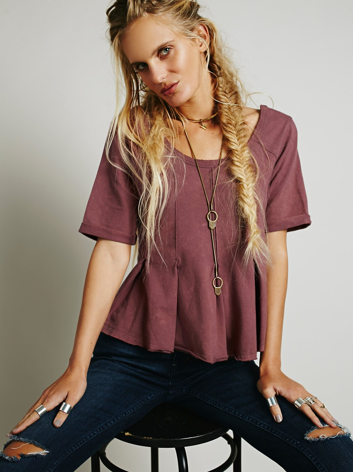 We The Free Drifter Pleated Tee