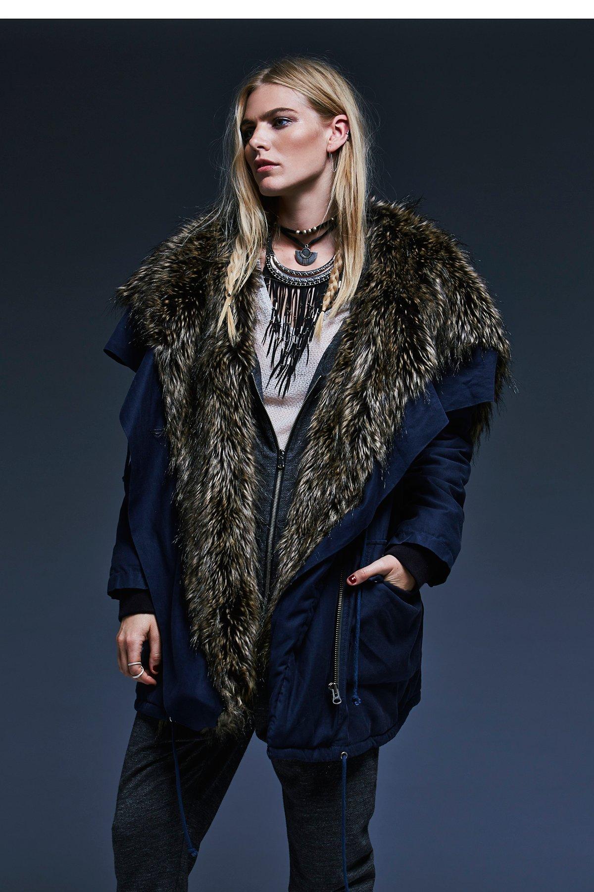 Sweet Child Fur Hooded Parka