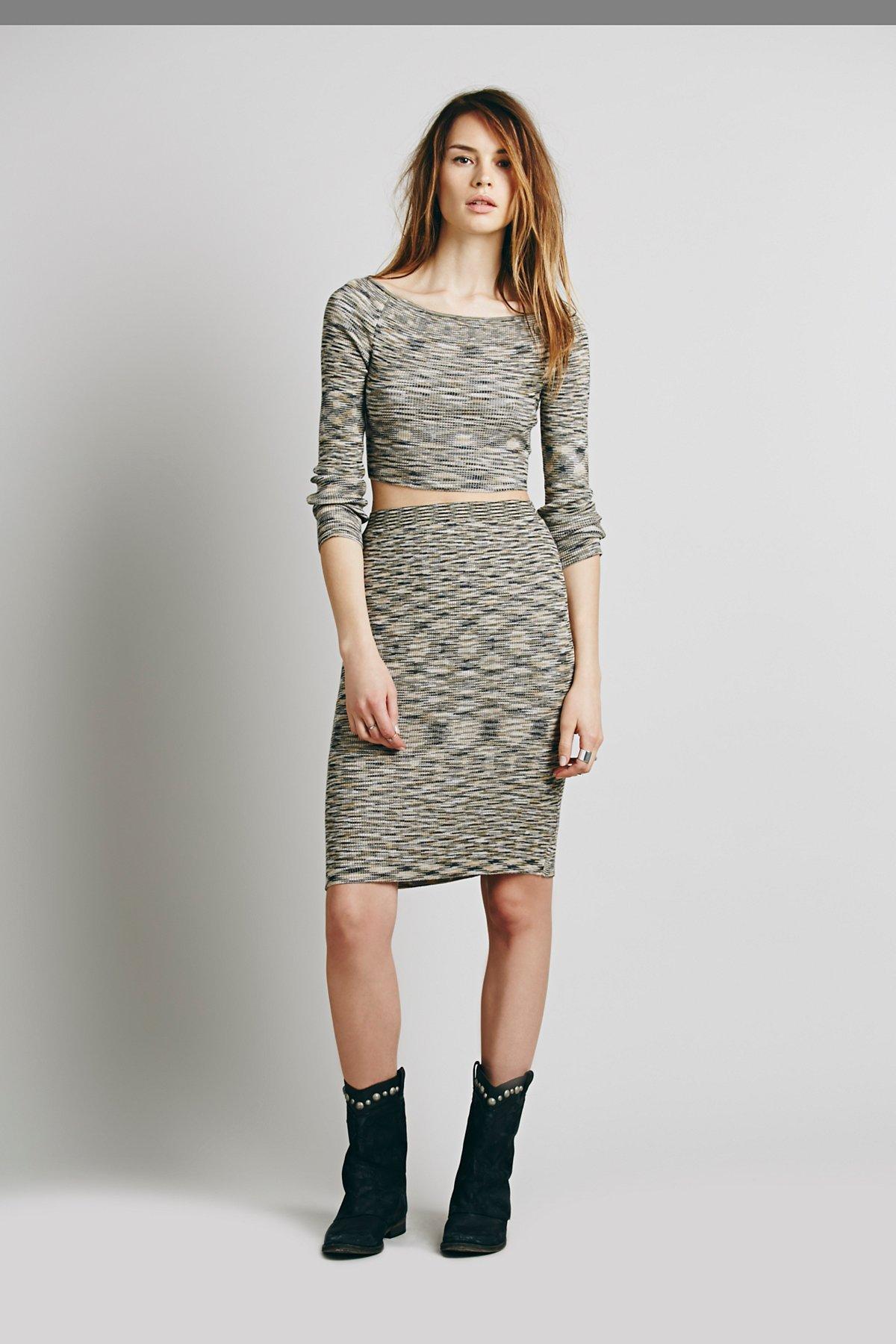 Mutual Feeling Space Dye Sweater Set