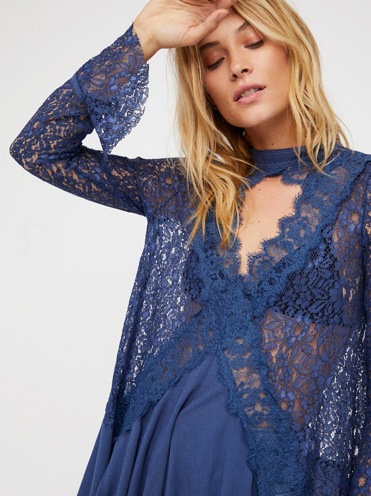 Secret Origins Pieced Lace Tunic