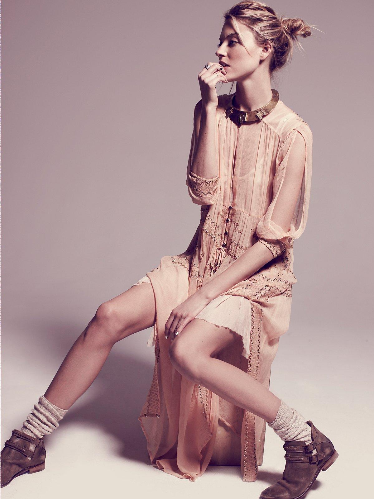 FP New Romantics卢勒克斯织物透明连衣长裙