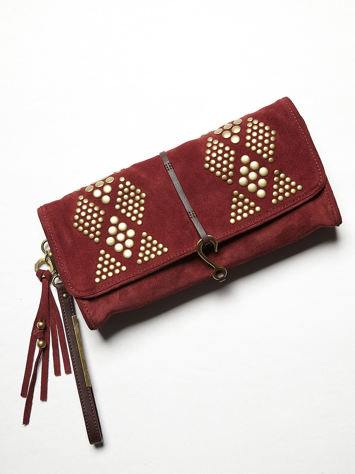 Diamond Suede Clutch