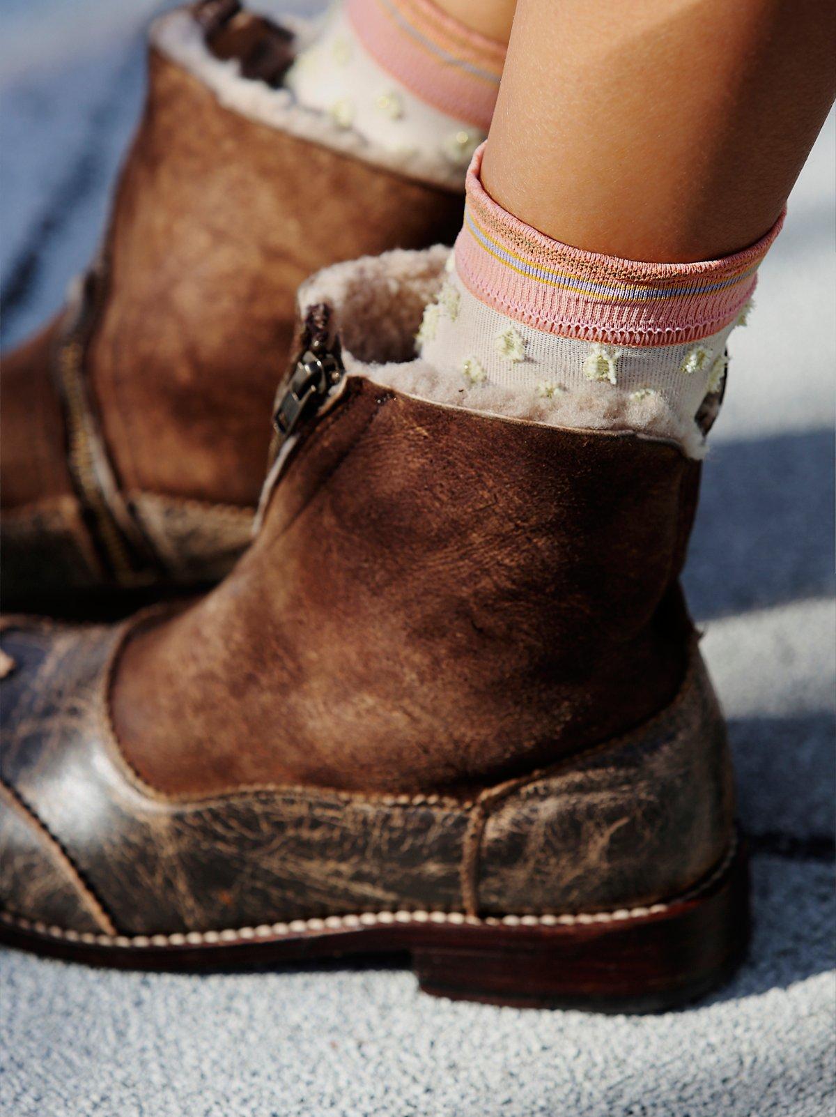 闪亮圆点踝袜