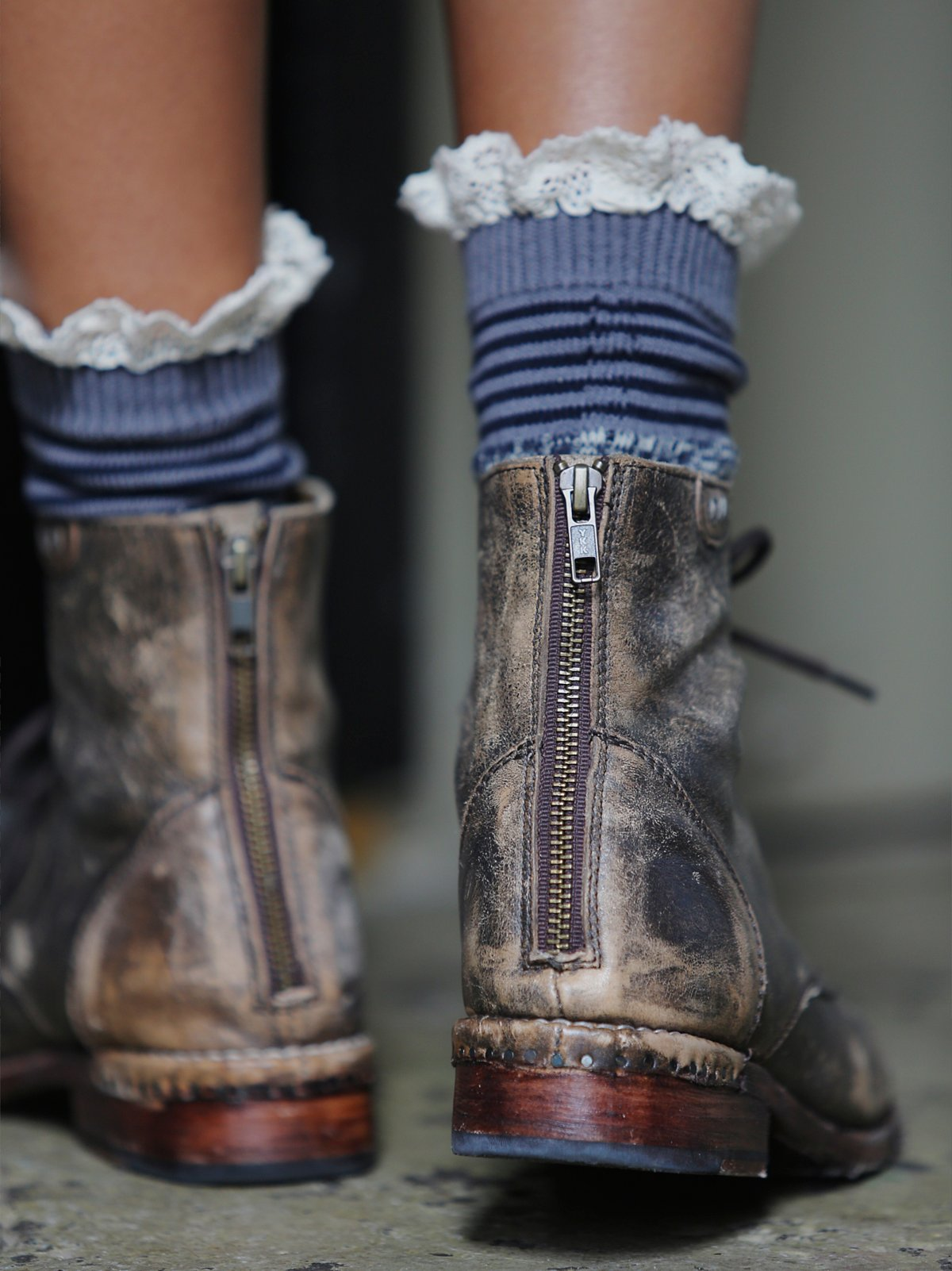 Nautical Heathered Highland Boot Sock