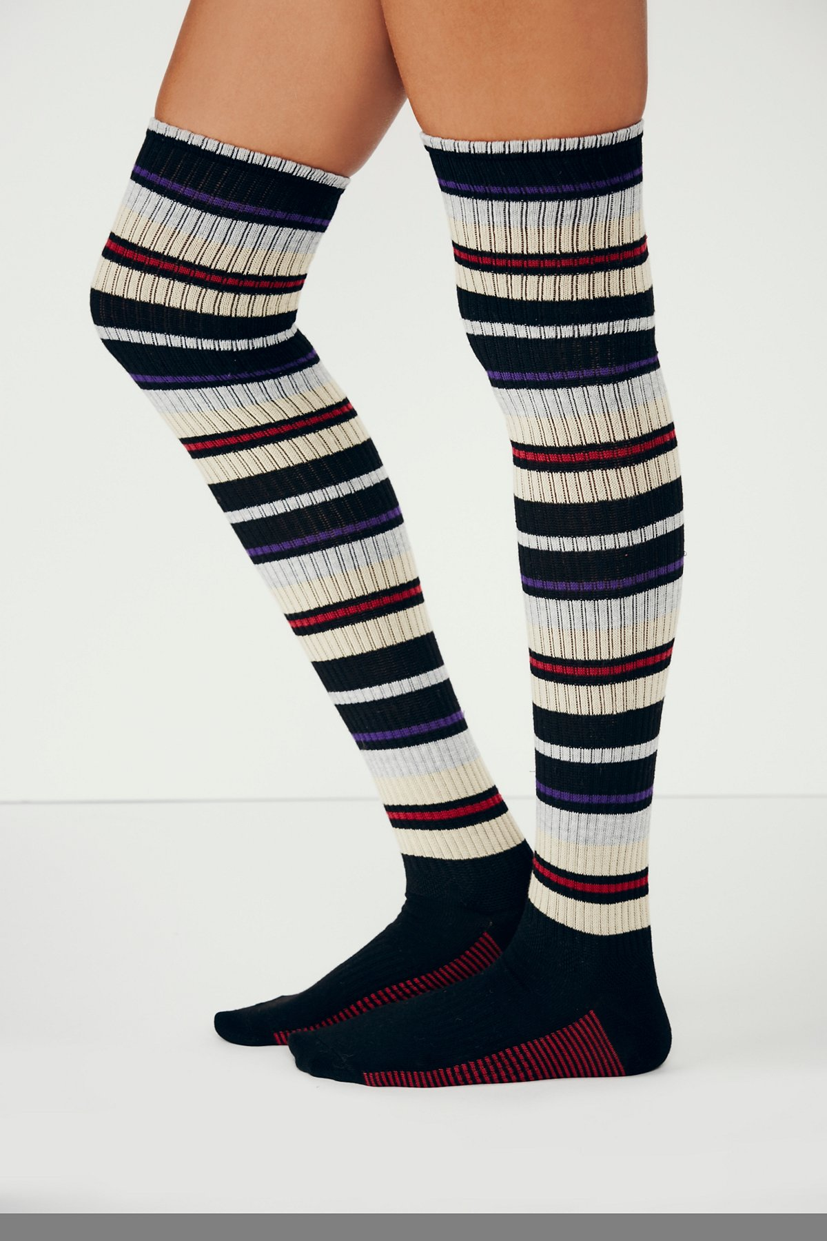Corey Striped Thigh High