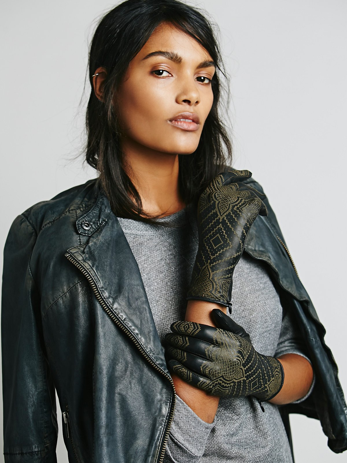 Henna Leather Glove