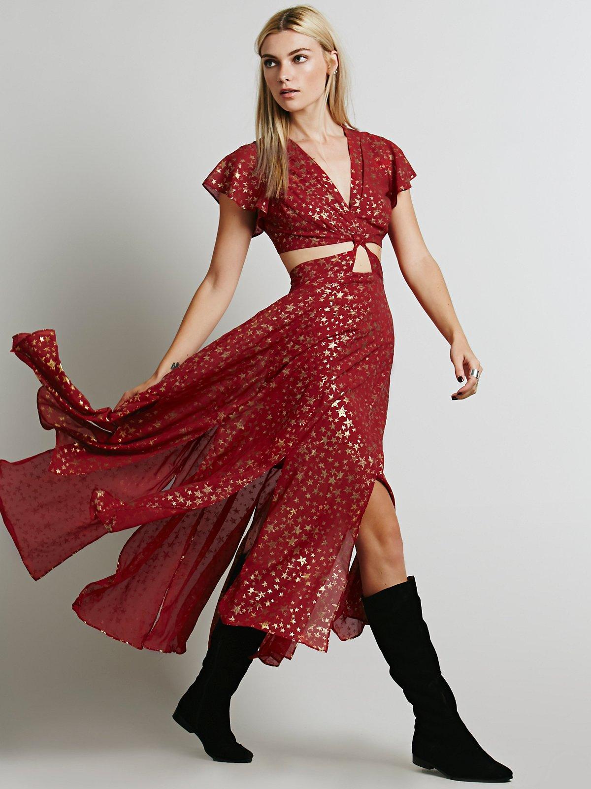 Star Foil Jasper Midi Dress