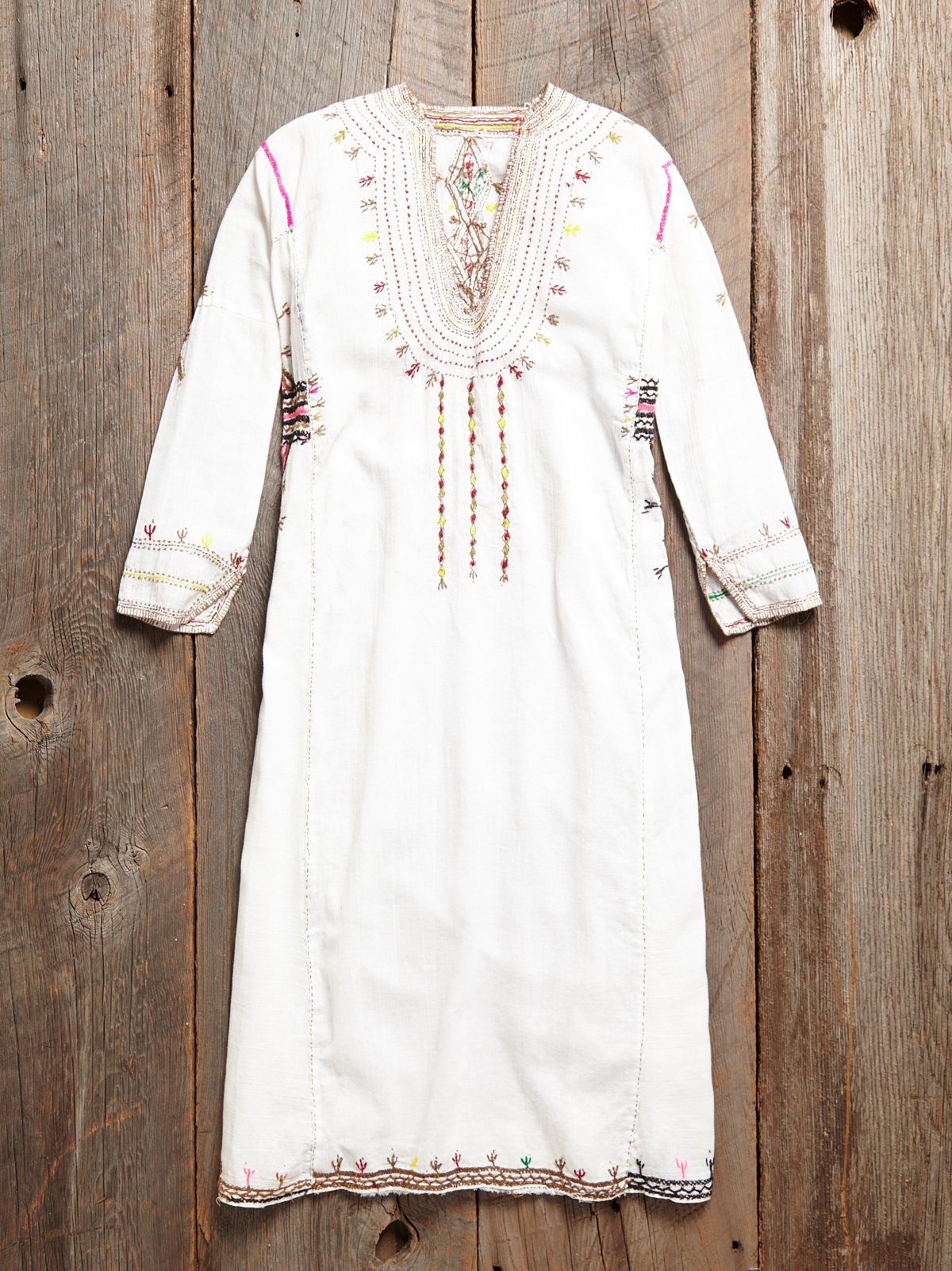 Vintage embroidered dress at free people clothing boutique