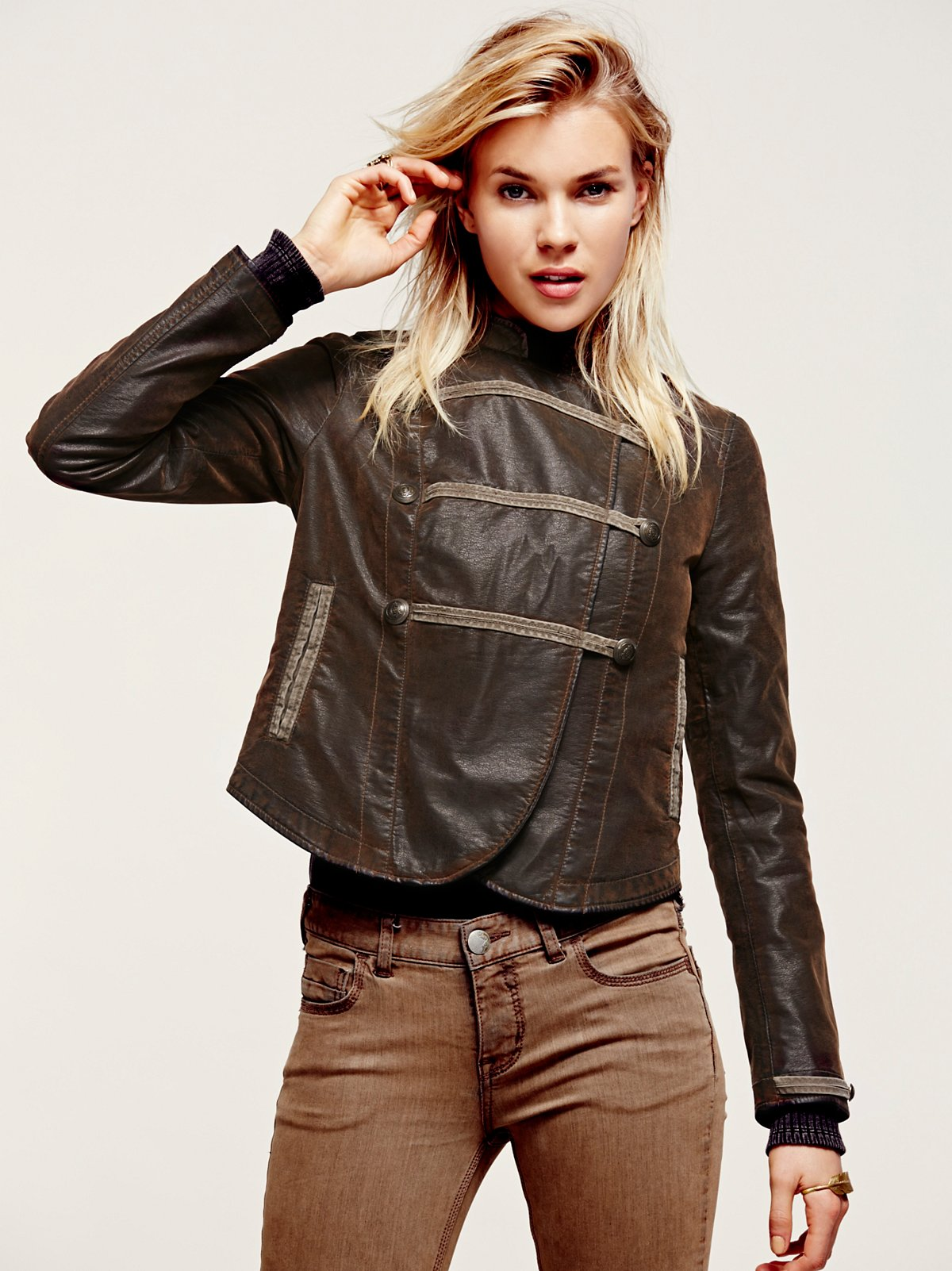 Military Brown Vegan Jacket