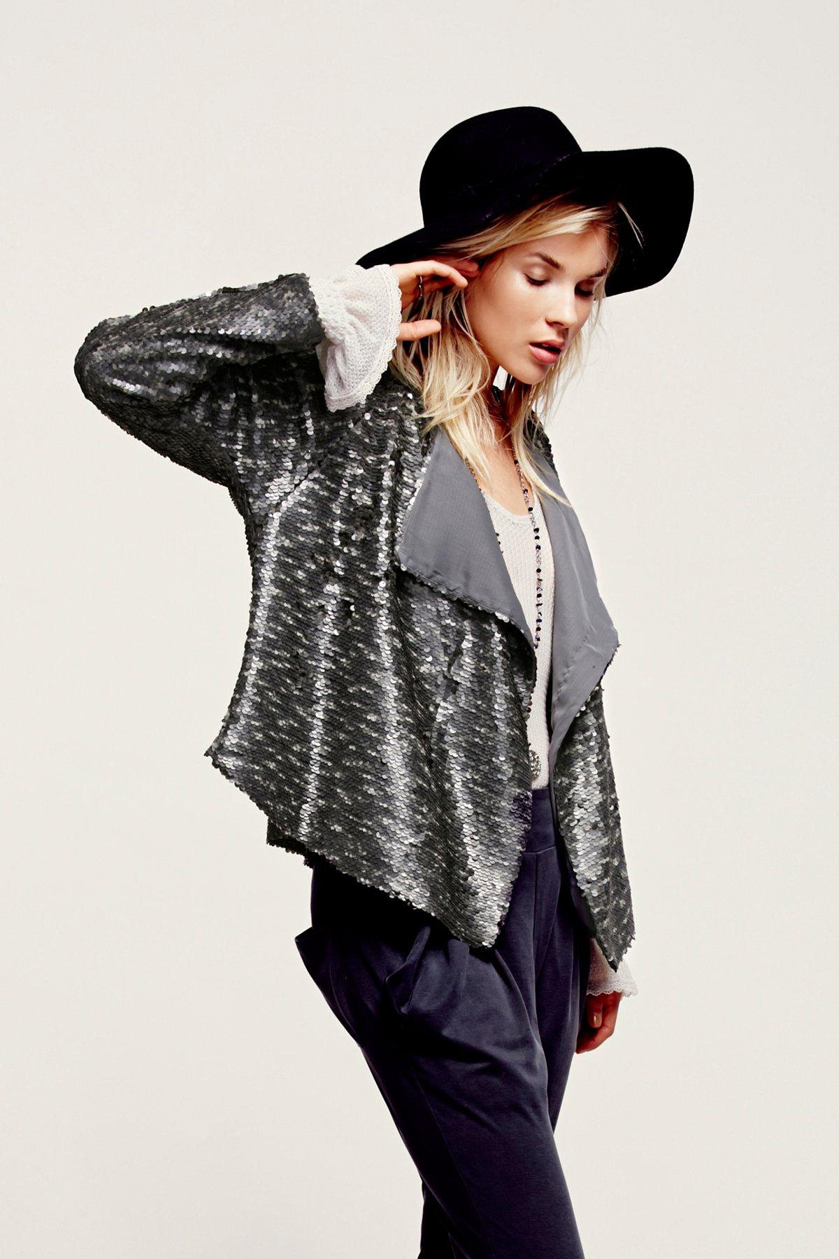 Drippy Sequin Jacket