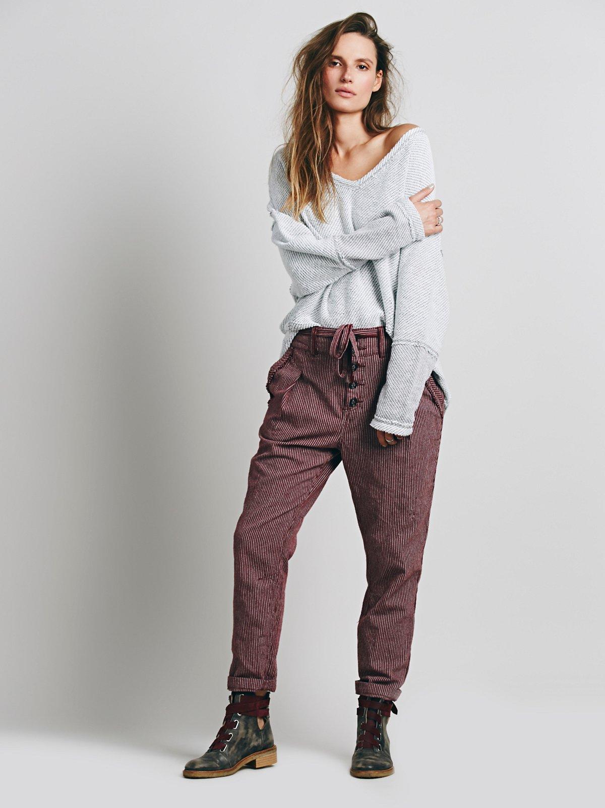 Hi Rise Menswear Pant