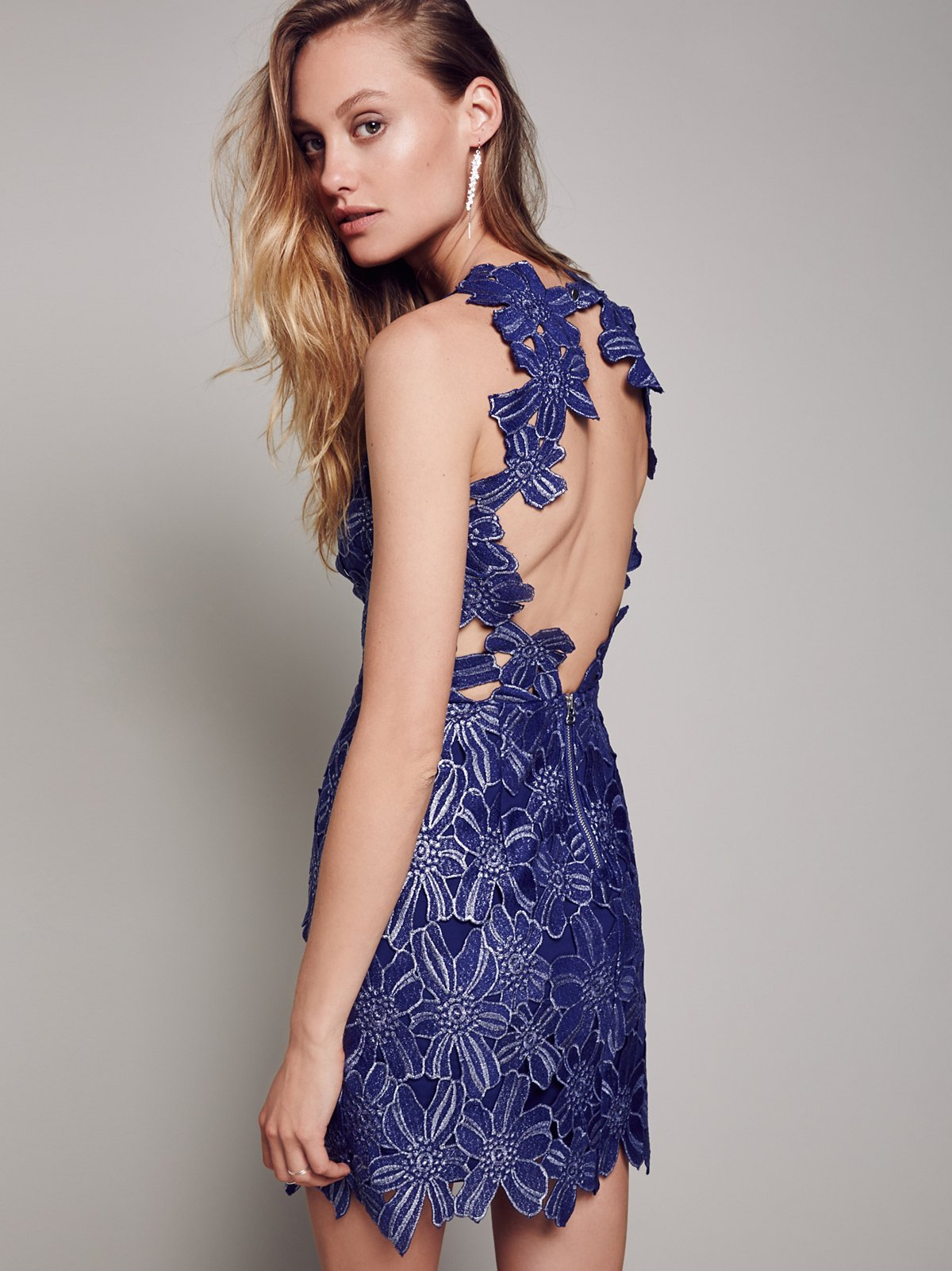 Jessa Foil Lace Dress