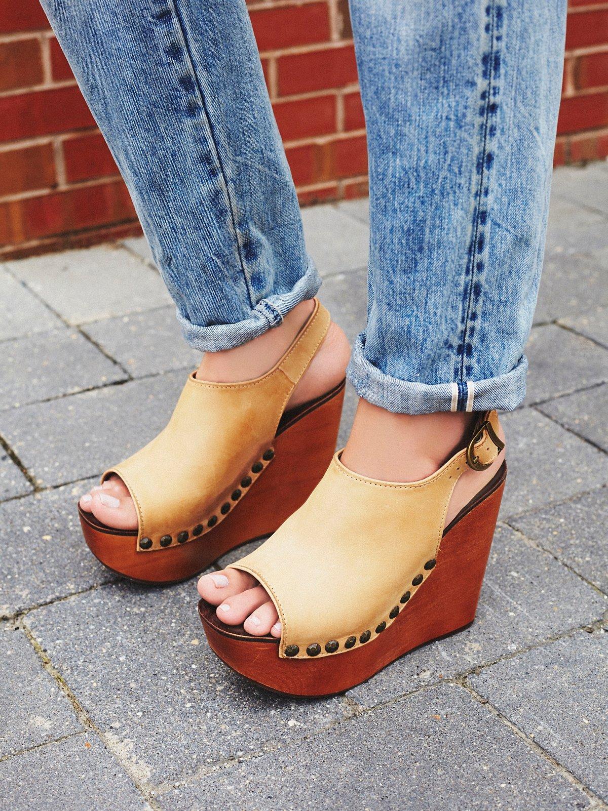Olivia坡跟鞋