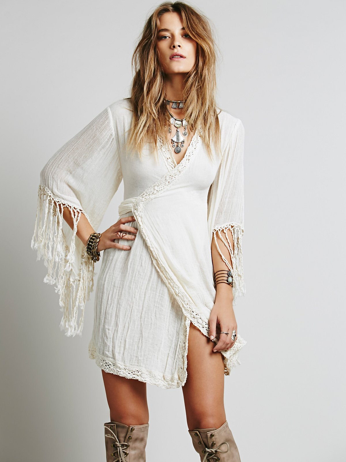 Gauze Wrap Dress