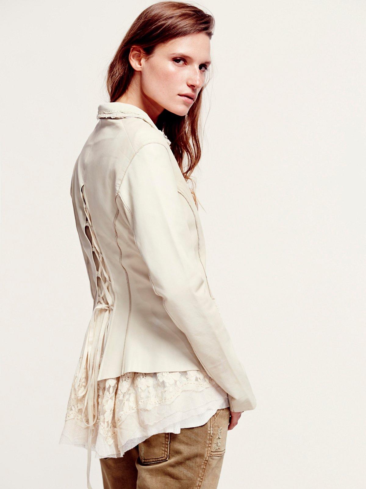 Loving Lace Leather Blazer