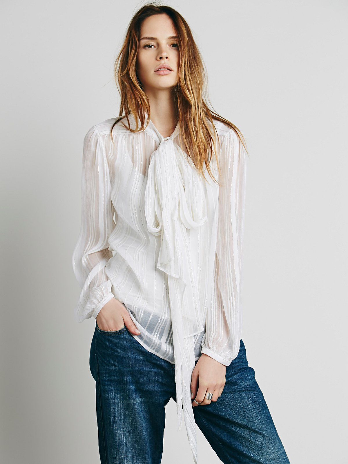 Fit to be Tied Lurex Blouse