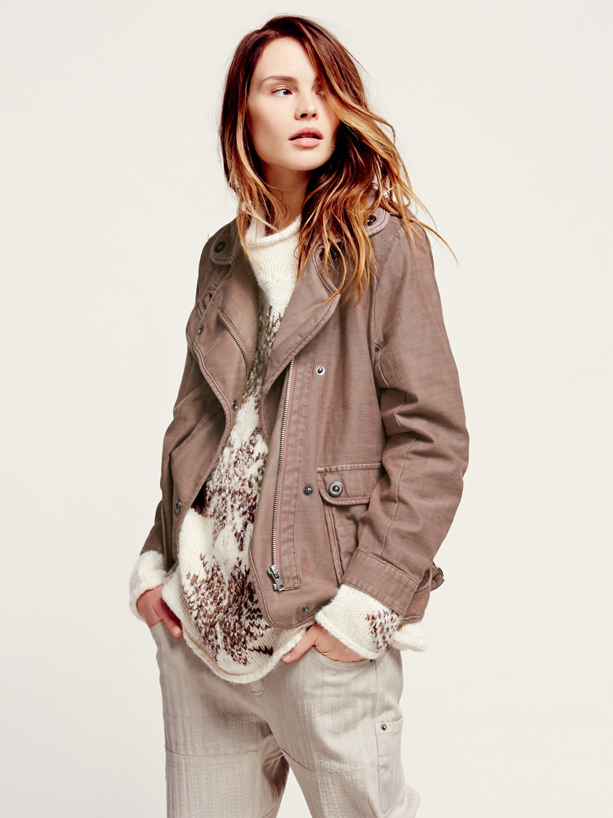 Twill 2 Pocket Slouchy Jacket