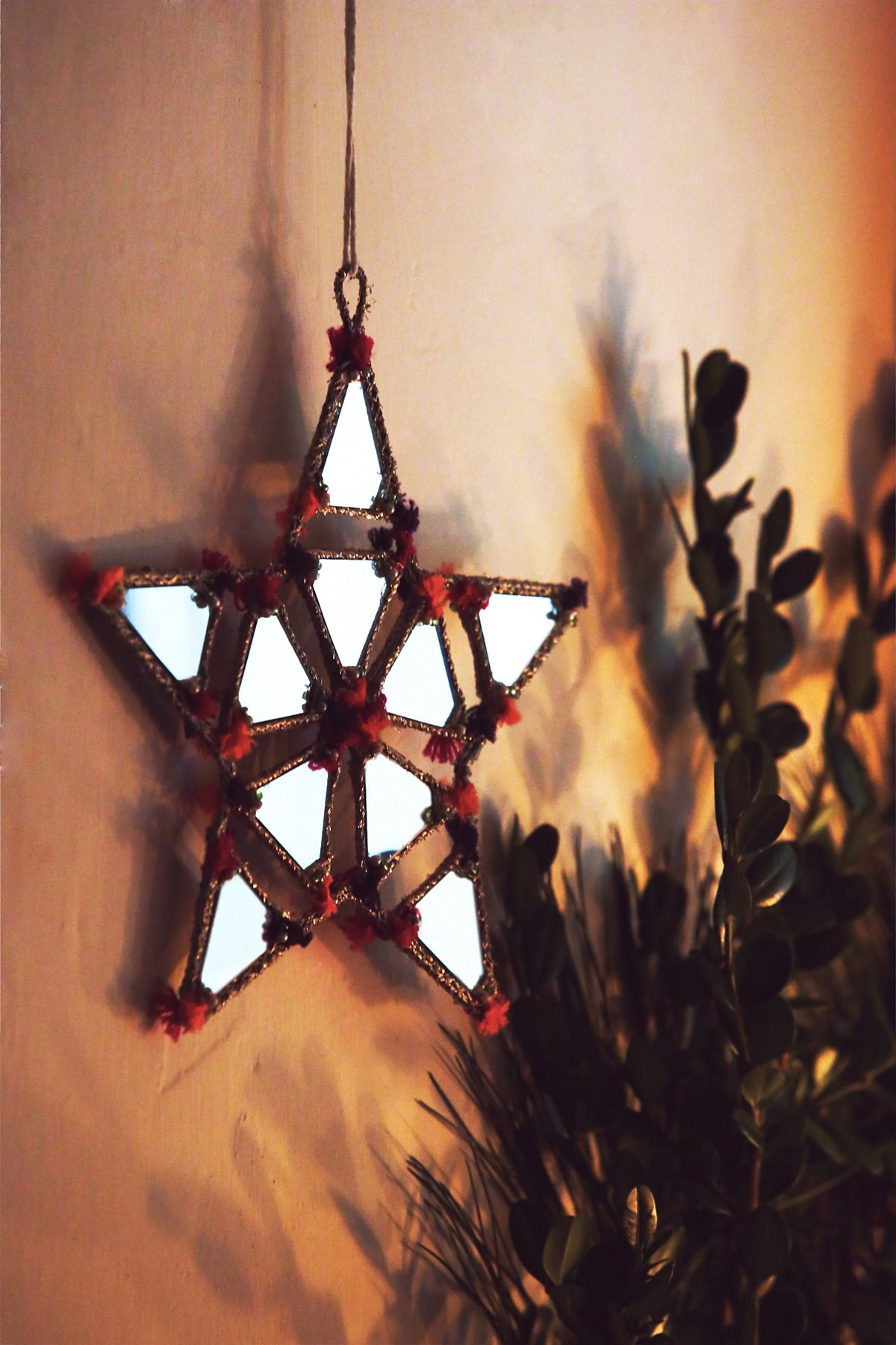 Large Shining Star Mirror Ornament
